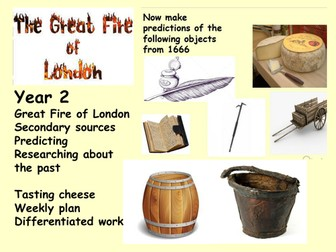 Year 2 Great Fire of London Writing across the curriculum