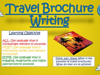 Travel Brochure Writing!