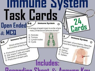 Immune System Task Cards