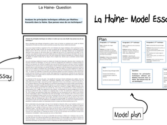 La Haine- Model Essays (2) AS and A2 French- lot3