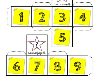 Spanish All About Me Dice - numbers 1-10 image and vocabulary