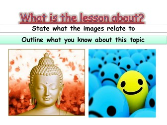 an introduction to Buddhism KS3