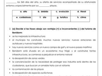 Spanish A Level el impacto del turismo en España: impact of mass tourism in Benidorm