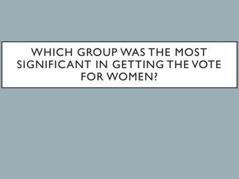 Suffragette vs Suffragist