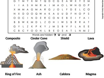 Volcanoes Word Search