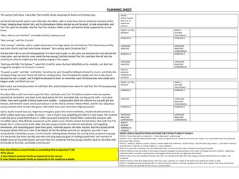 Planning sheet & Writing frame for question on the theme of family in A Christmas Carol (AQA 1-9)