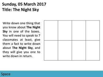 Space: The Night Sky