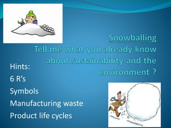Sustainability, Methods of Recovery, Renewable Energy