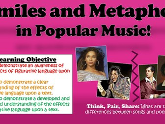 Similes and Metaphors in Popular Music!