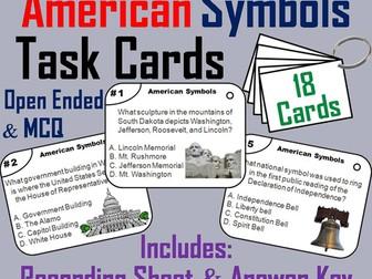 American Symbols Task Cards