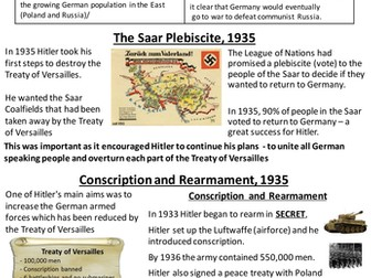 GCSE Causes of the Second World War Revision Pack