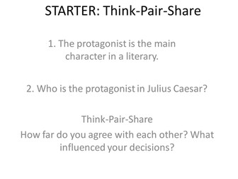Julius Caesar: Debating the protagonist