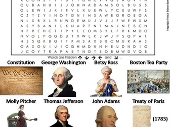 American Revolution Word Search