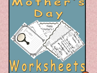 Mother's Day Fun Worksheets