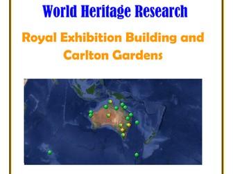 Australia Research Guide:  Royal Exhibition Building and Carlton Gardens