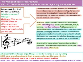 Manipulating structure and punctuation for creative writing
