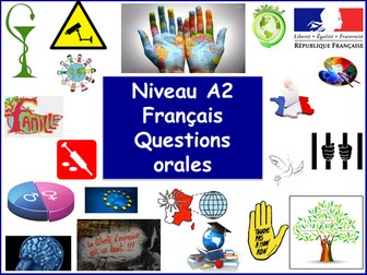 A Level / A2 Level French speaking questions (French / A Level)