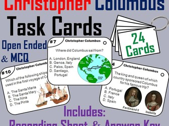 Christopher Columbus Task Cards