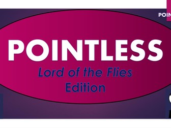 Lord of the Flies Pointless Game! (and blank template to make your own games!)