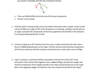 new GCSE Resolving forces