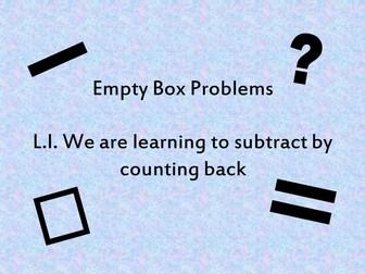 Year 1 Subtraction starter