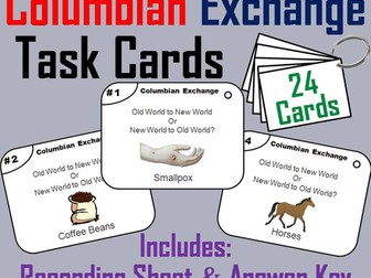 Columbian Exchange Task Cards