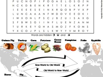 Columbian Exchange Word Search