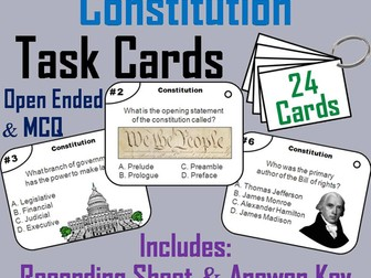 The Constitution Task Cards