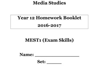AS Media Studies Independent Study Booklet (version 1.)