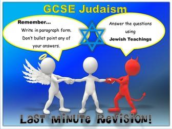 Revision - GCSE Judaism Last Minute Revision