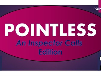 An Inspector Calls Pointless Game (and blank template to make your own games!)