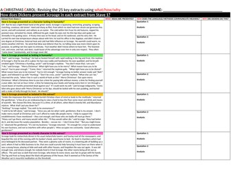 A Christmas Carol: Revising 25 key extracts for A01, A02 and A03 (Revision Booklet)