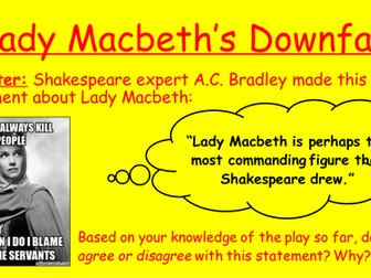 Lady Macbeth's downfall