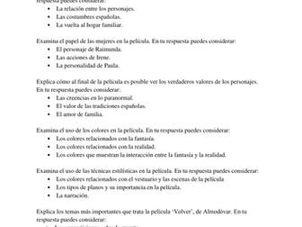 spanish essay topics