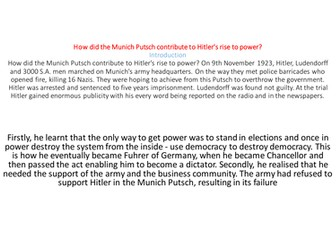 Munich Putsch and Hitler's Rise To Power