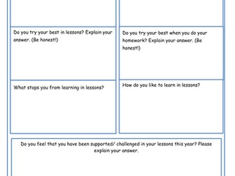 French Pupil Check-In / Pupil Voice KS3