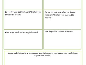 Geography Pupil Check-In -/Pupil Voice KS3
