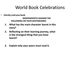 Persuasive Writing for World Book Day