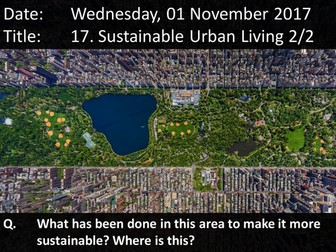 17. Sustainable Urban Living 2/2