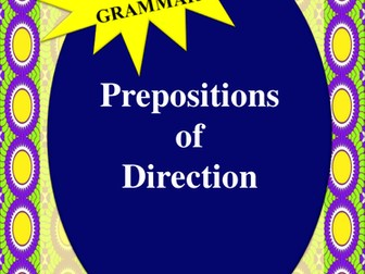 NAPLAN:  Year 3 Prepositions of Direction
