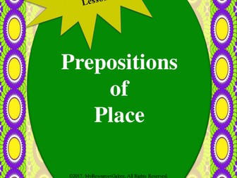 NAPLAN: Year 3 - Prepositions of Place