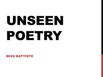 Unseen Poetry AQA GCSE