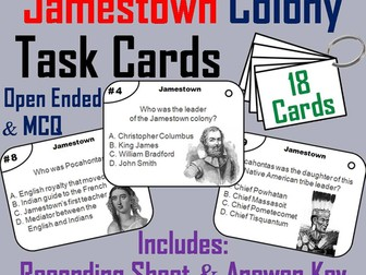 Jamestown Task Cards
