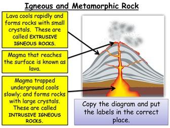 Year 8 Chemistry - Igneous + metamorphic rocks, Weathering, Erosion + Sedimentary rocks