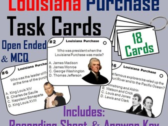 Louisiana Purchase Task Cards