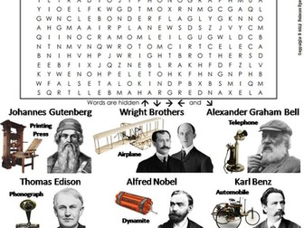 Inventors and Inventions Word Search
