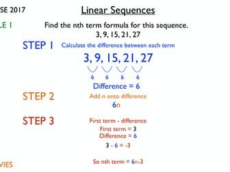 Sequences Review Lesson