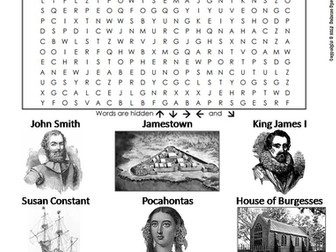 Jamestown Word Search
