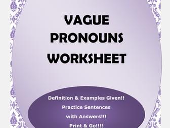 Vague Pronouns