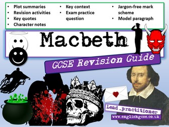 Macbeth GCSE Revision / Macbeth Revision Workbook